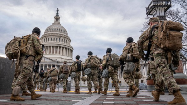 National Guard troops secure the Nation s Capital ahead of the upcoming inauguration for President Joe Biden at the U.S