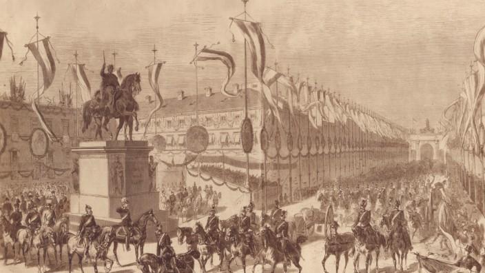 Rückkehr der bayerischen Truppen nach Ende des deutsch-französischen Krieges, 1871