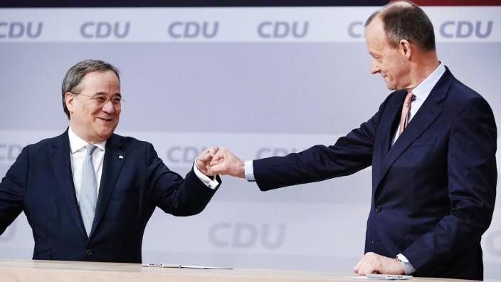 CDU-Politiker Armin Laschet und Friedrich Merz