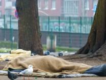 Hamburg: Obdachlose kämpfen mit dem Kälte-Tod