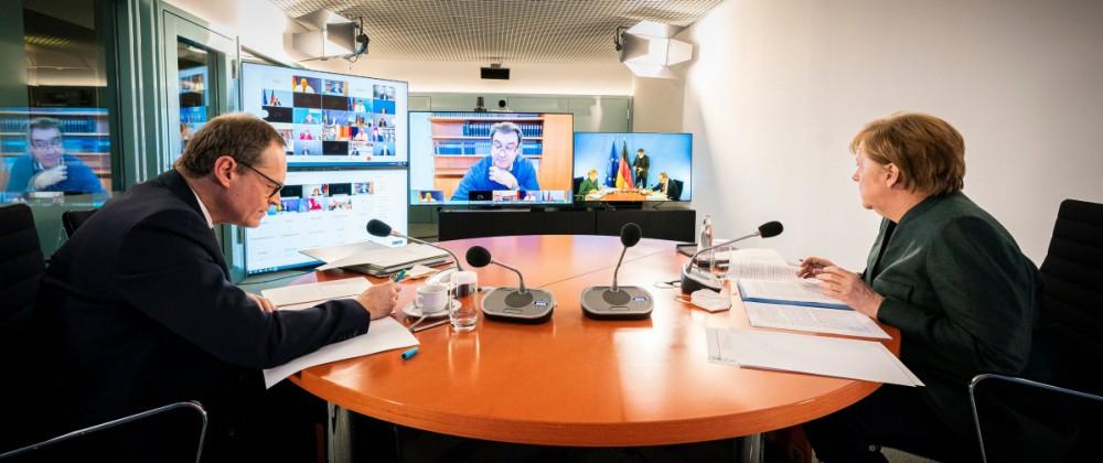 Coronavirus - Bund und Länder Videokonferenz