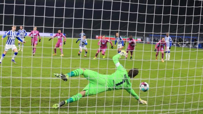Bundesliga: Hertha BSC gegen TSG Hoffenheim 2021 im Berliner Olympiastadion