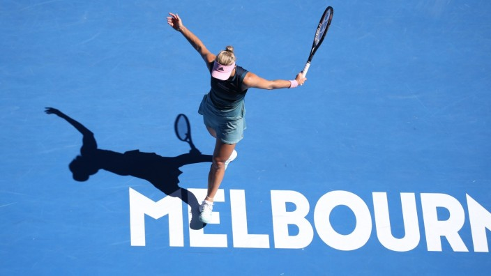 Angelique Kerber, GER, during fourth round of 2019 Australian Open in Melbourne, 20/01/2019; - *** Angelique Kerber GER