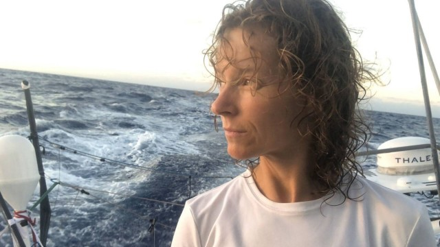 Race photo production Vendee Globe 2020; Isabelle Joschke