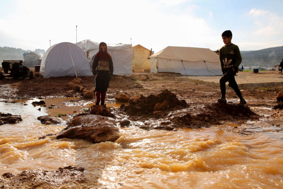 Überschwemmungen im Flüchtlingslager in Killi