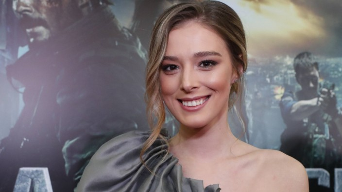 MOSCOW RUSSIA MARCH 14 2019 Actress Milena Radulovic at the premiere of the Russian Serbian ac