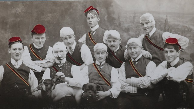 12 02 2015 historische Fotos Burschenschaft Frankonia zu Heidelberg 1907 Studentenverbindung Mens