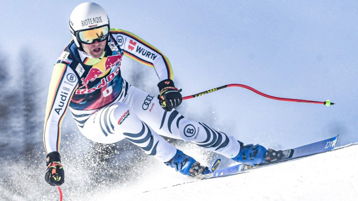 20.01.2021, Streif, Kitzbühel, AUT, FIS Weltcup Ski Alpin, Abfahrt, Herren, 1. Training, im Bild Romed Baumann (GER) //