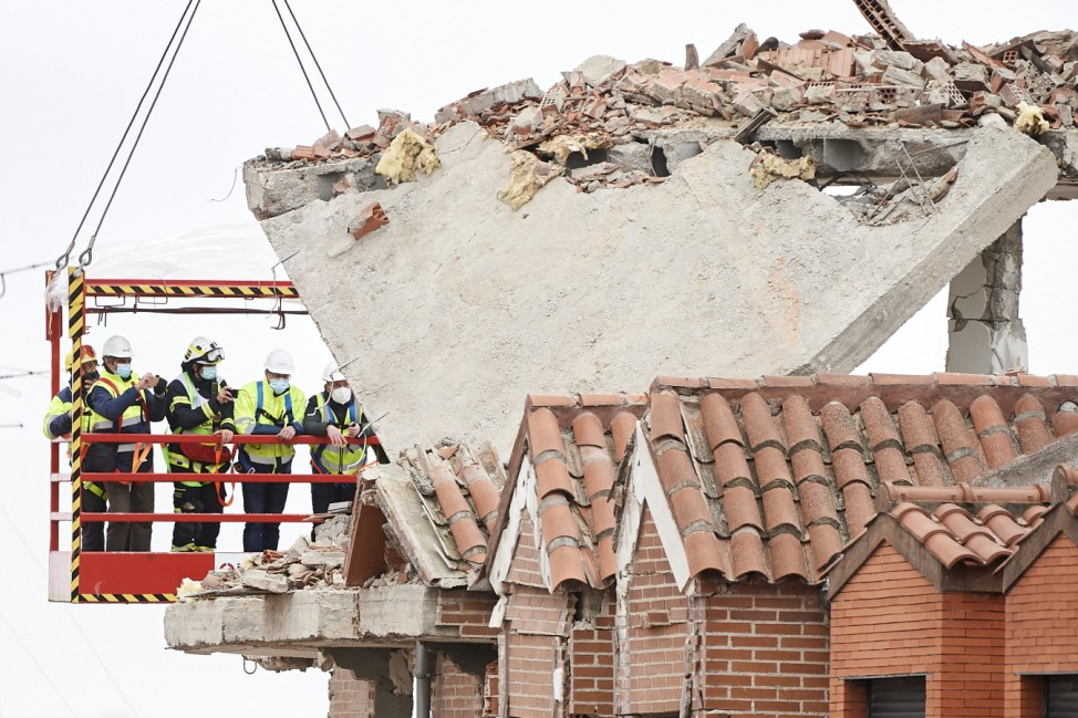 *** BESTPIX *** Four People Dead After Madrid Gas Explosion