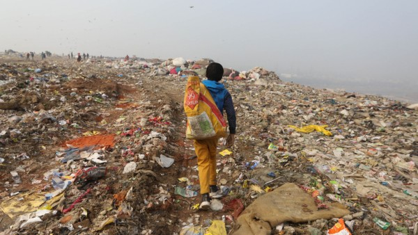 Lumpensammler in Indien