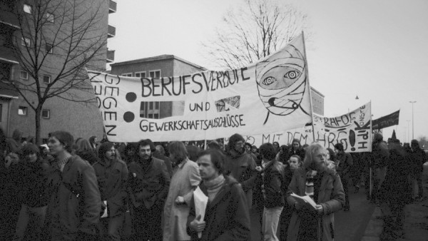 Demonstration gegen Berufsverbote am 28. Januar 1977 in Berlin