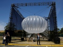 FILE PHOTO: A Google Project Loon internet balloon is seen at the Google I/O 2016 developers conference in Mountain View