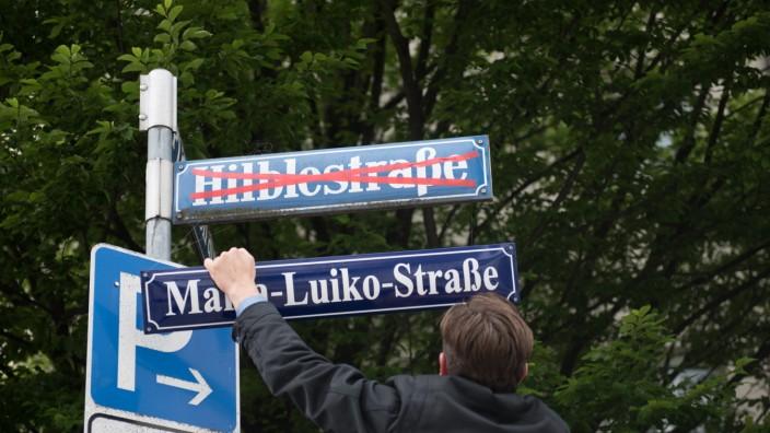 Symbolische Umbenennung der Hilblestrasse