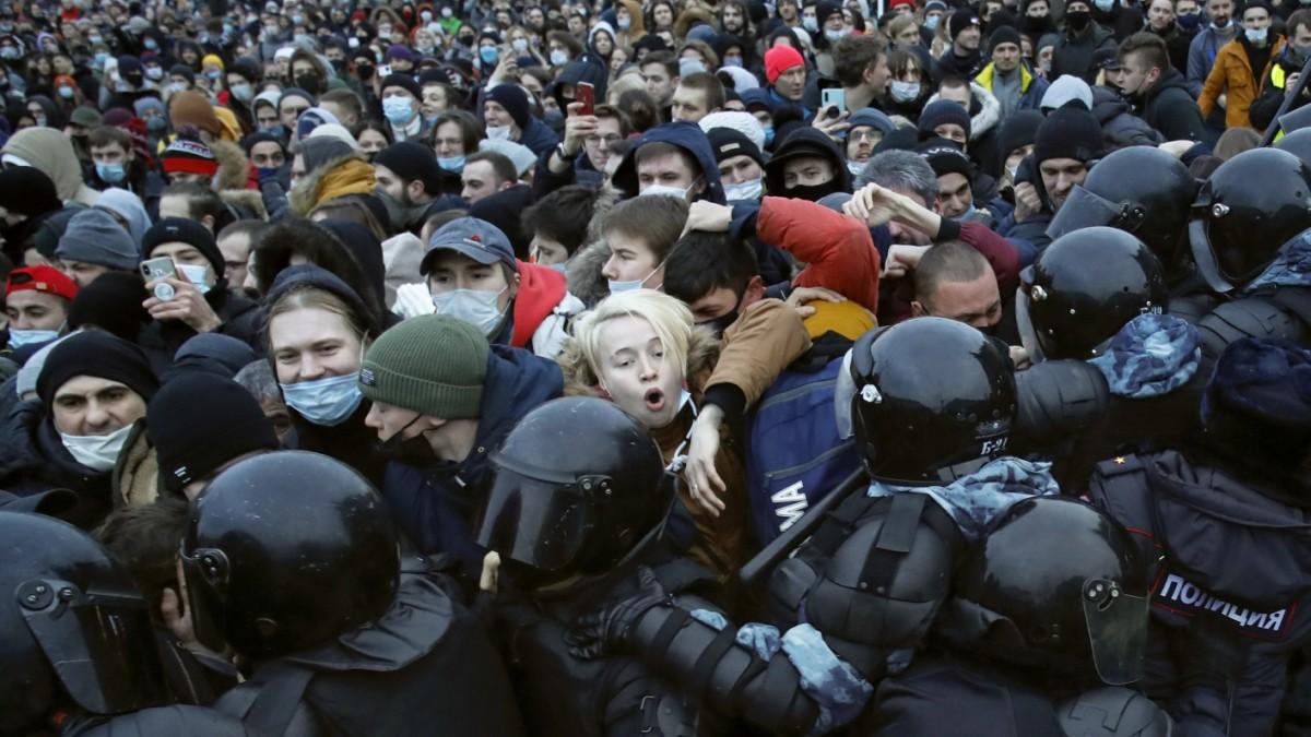Russland: Zehntausende demonstrieren für Nawalny