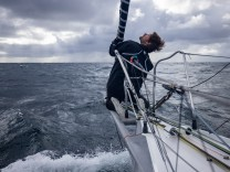 OFF Belle l'île - October 11: German skippers Boris Herrmann sailing on the Imoca Malizia II, training prior for the vendee globe, on October 11, 2020, off Belle l'île, South Brittany, France - Photo Pierre Bouras / Team Malizia; Boris Herrmann