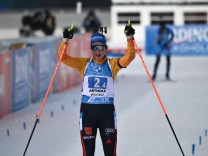 Biathlon in Antholz: Deutsche Staffel bejubelt Platz zwei