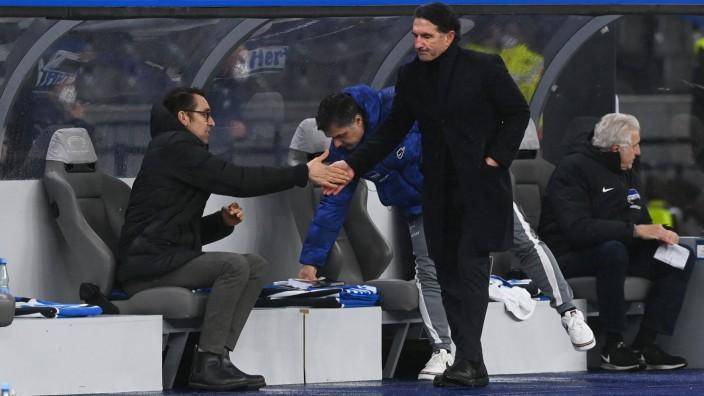 Fussball, Herren, 1. Bundesliga, Saison 2020/21, (17. Spieltag), Hertha BSC - TSG Hoffenheim, v. l. Manager Michael Pre