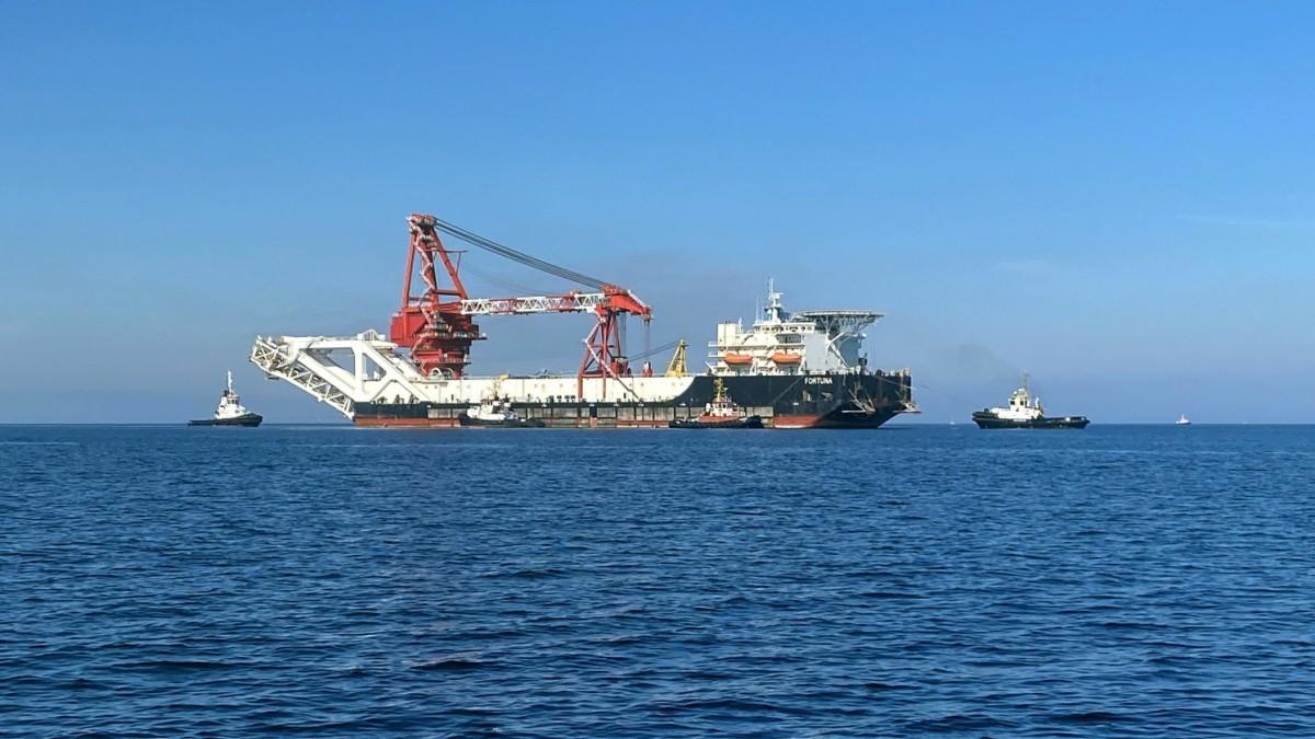 Nord Stream 2: Spezialschiff nimmt Arbeit in dänischen Gewässern auf