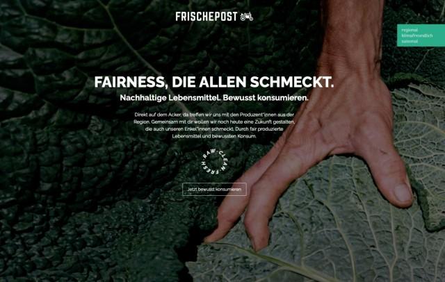 Frischepost.de Webseite