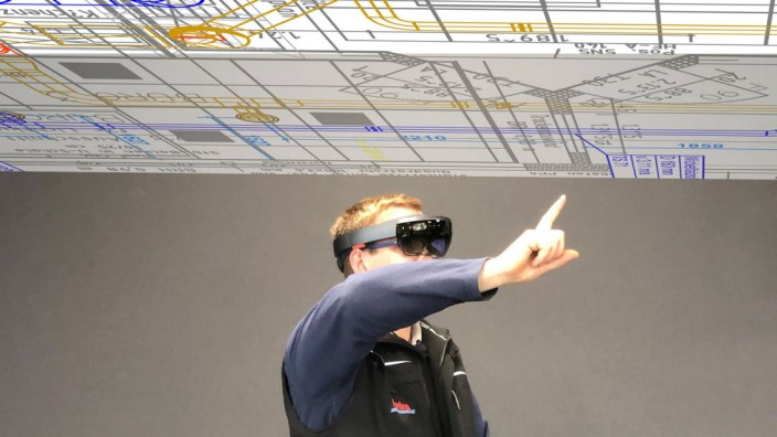 VR auf der Baustelle