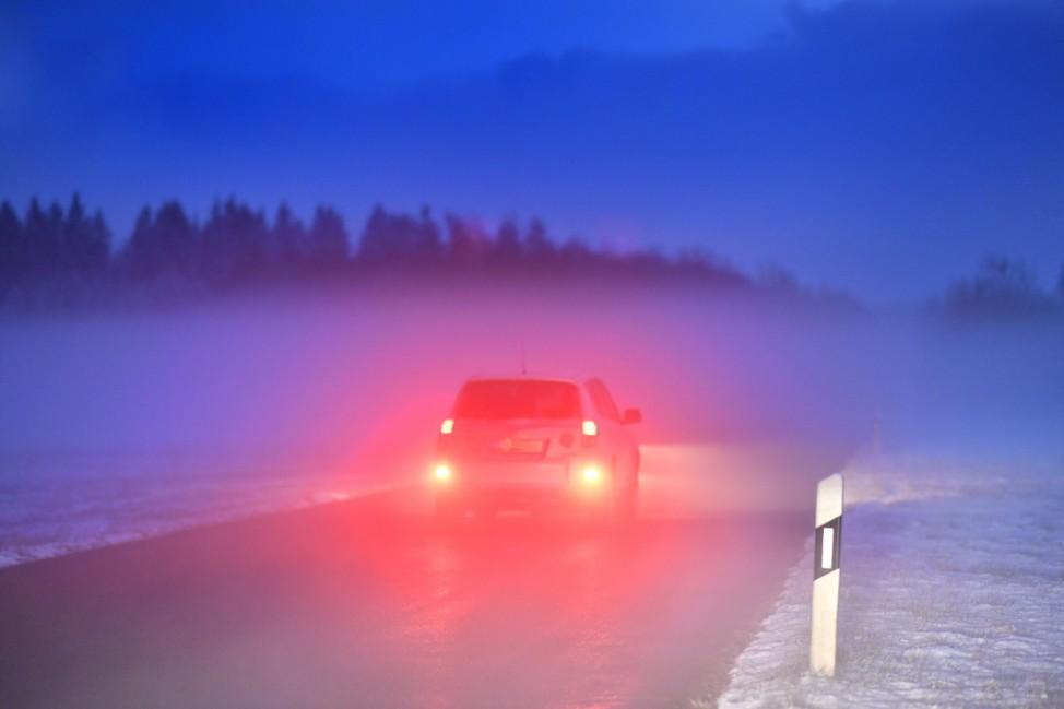 Andechs, fahren in Winter