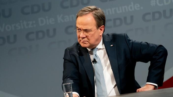 CDU-Vorsitz: Armin Laschet während einer Kandidatendebatte