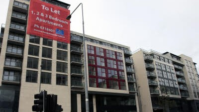 Irland in der Rezession: Bankenviertel in Dublin: Viele Büros stehen schon leer.