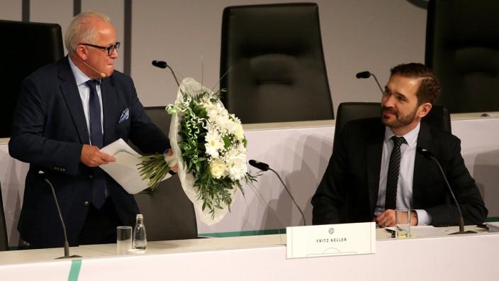DFB-Bundestag: Präsident Fritz Keller und Generalsekretär Friedrich Curtius
