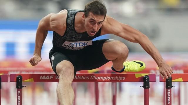 September 30, 2019, Doha, Qatar: Sergey Shubenkov (ANA) in action during the IAAF World Athletics Championships at the K