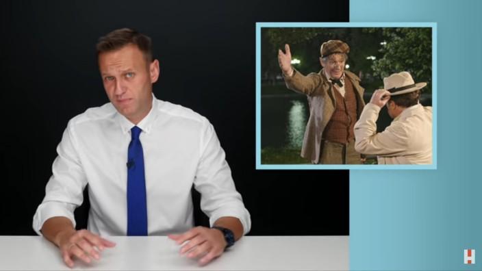 Screenshots aus den Videos des Kremlkritikers Alexey Nawalny