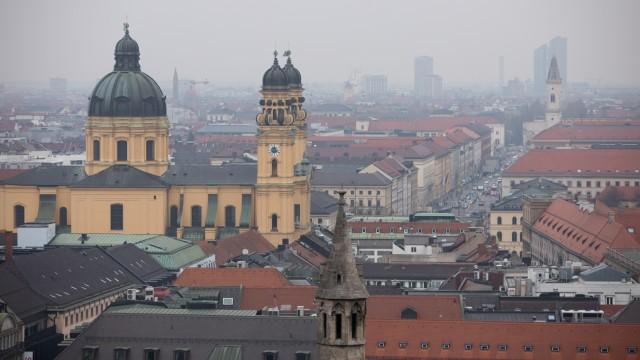 Aussicht vom Alten Peter in München, 2019
