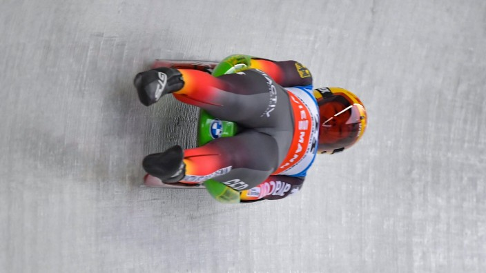 Koenigssee, Deutschland 03. Januar 2021: Eberspaecher Rennrodel-Weltcup - Koenigssee - Sonntag - 03.01.2021 - Damen Jul; Wintersport - Rodeln - WM - Julia Taubitz