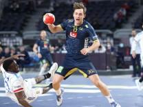 Handball, WM, Schweden - Frankreich PXL_France v Sweden - IHF Men s World Championships Handball 2021, semifinal CAIRO,