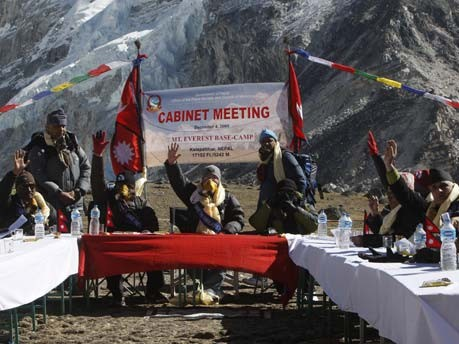 Kabinettssitzung am Mount Everest;AFP