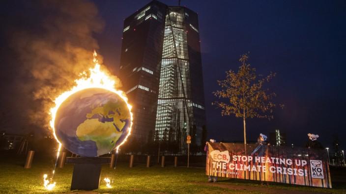 Protest gegen Klimapolitik der Europäischen Zentralbank