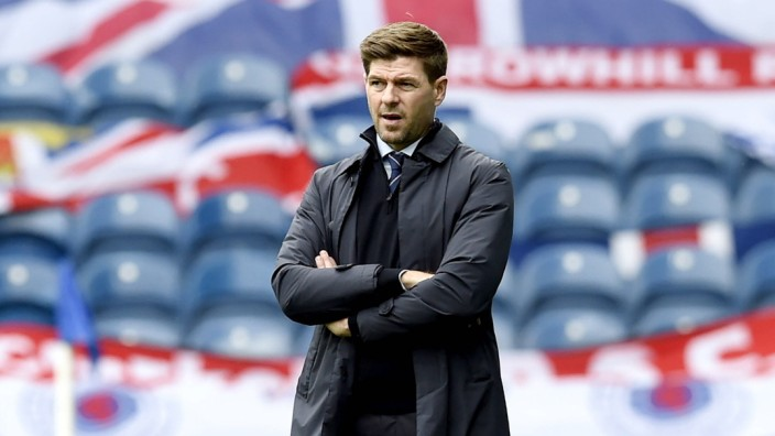 Rangers v Dundee United - Scottish Premiership - Ibrox Park Rangers manager Steven Gerrard during the Scottish Premiersh; x