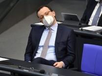 Jens Spahn in der 207. Sitzung des Deutschen Bundestages im Reichstagsgebäude. Berlin, 29.01.2021 *** Jens Spahn at the