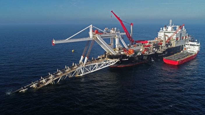 Bau der Gaspipeline Nord Stream 2 in der Ostsee