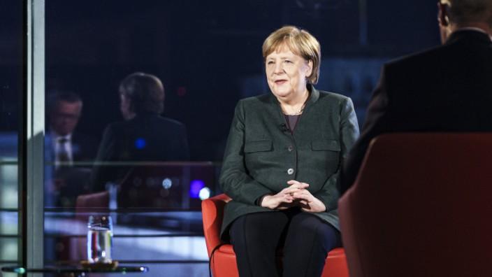"""ARD-Sondersendung ´Farbe bekennen"""" mit Bundeskanzlerin Merkel"""
