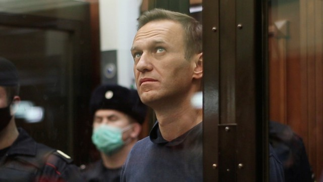 Russian opposition leader Navalny attends a court hearing in Moscow
