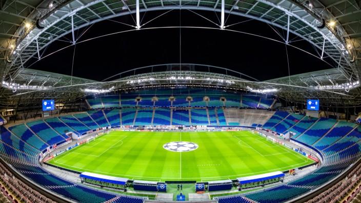 RB Leipzig Arena ohne Zuschauer (Geisterspiel, COVID19, Coronaspiel, Pandemie) waehrend der Gruppenphase - Saison 2020-