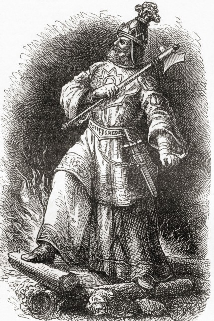 Attila c 406 453 aka Attila the Hun Ruler of the Huns and leader of a tribal empire consisting of