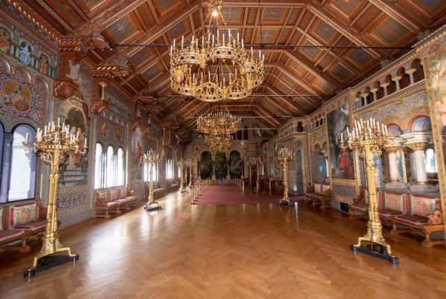 Schloss Neuschwanstein - Sängersaal restauriert