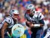 ORCHARD PARK, NY - SEPTEMBER 29: New England Patriots Quarterback Tom Brady (12) looks to hand the ball off to New Engl