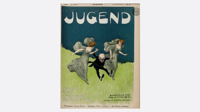 """Zeitschrift """"Jugend"""" - Münchner illustrierte Wochenschrift für Kunst und Leben. ACHTUNG: nur frei zur redaktionellen Berichterstattung bei Nennung des vollständigen Credits"""