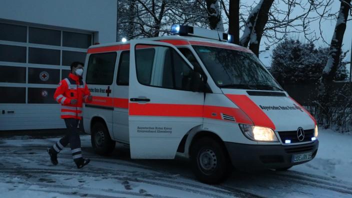 Bernhard Nowotny, Kreisbereitschaftsleiter, Katastrophenschutzbeauftragter, Bayerisches Rotes Kreuz und Roland Feineis von Helfer vor Ort Markt Schwaben