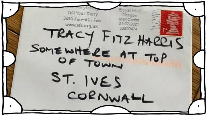 Irgendwo oben in der Stadt: Ein Brief mit ungewöhnlicher Adresse hat es dank des umsichtigen Postboten bis ins richtige Haus in St. Ives (Cornwall) geschafft
