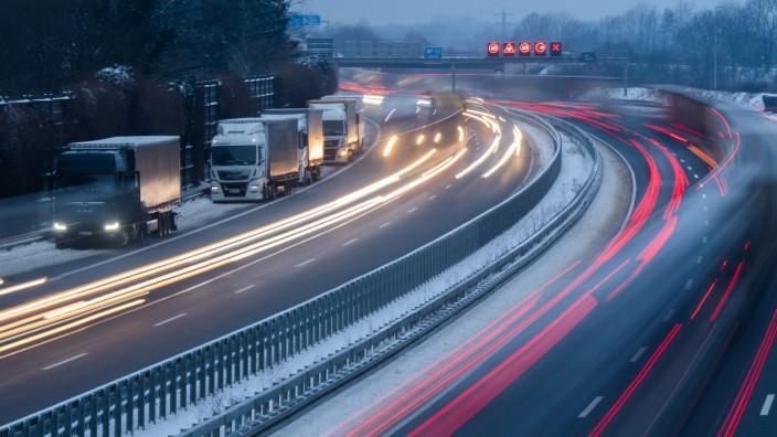 Winterwetter - Autobahn A2