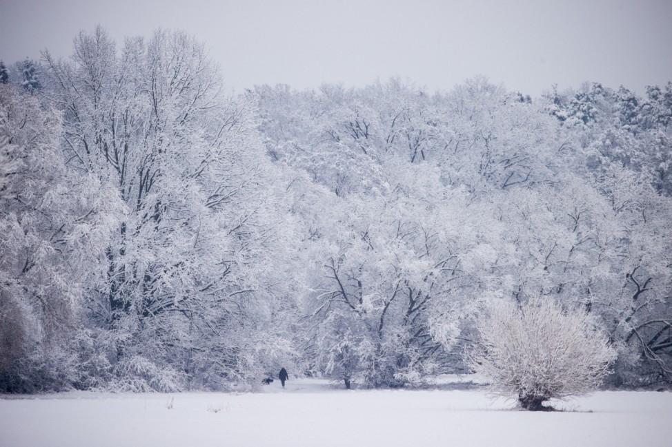 Schnee in Franken
