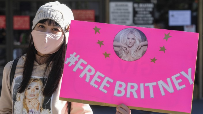 Britney Spears fans protest in Los Angeles